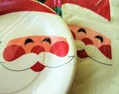 Vintage Paper Napkins, Paper Plates, Vintage Christmas, Kalla Napkins, 1980s Paper Serviettes, Vintage Holiday Santa Napkins Santa Plates