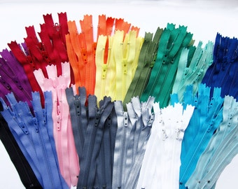 """500 pieces YKK Zippers Choose your own colors & choose your desired length 4"""" 5"""" 6"""" 7"""" 8""""   - Wholesale YKK Nylon Zippers - 4 Inch to 8 Inch"""