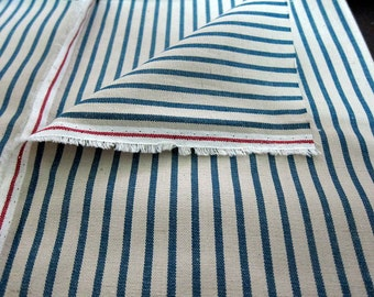 Woven Stripes on Cotton Linen Blend - Japanese Fabric - Half Yard - Available in Larger Yardage