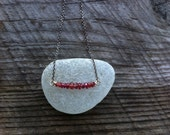 Padparadscha Sapphire Swing Necklace