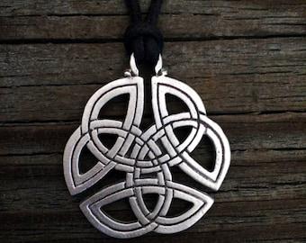 Open Celtic Knot Pewter Pendant
