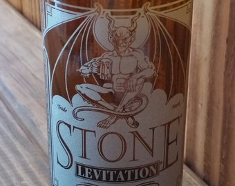 YAVA Glass - Recycled Stone Levitation Beer Bottle Glass