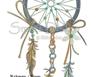 "Dreamcatcher Nr.1 Doodle 6.2x10.2"" 16x26 cm Machine Embroidery Design"