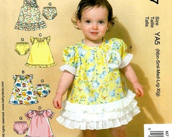BABY CLOTHES PATTERN / Make Baby Girl Dress - Panties / Newborn to Extra Large / Summer Clothes