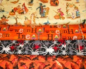 HALLOWEEN #1  Fabrics, Sold INDIVIDUALLY not as a group, by the Half Yard