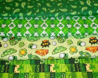 ST PATRICKS #2  Fabrics, Sold INDIVIDUALLY not as a group, by the Half Yard