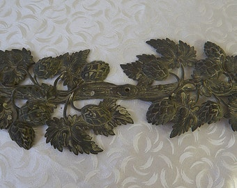 Antique Berry Branch Metal Decorative Element