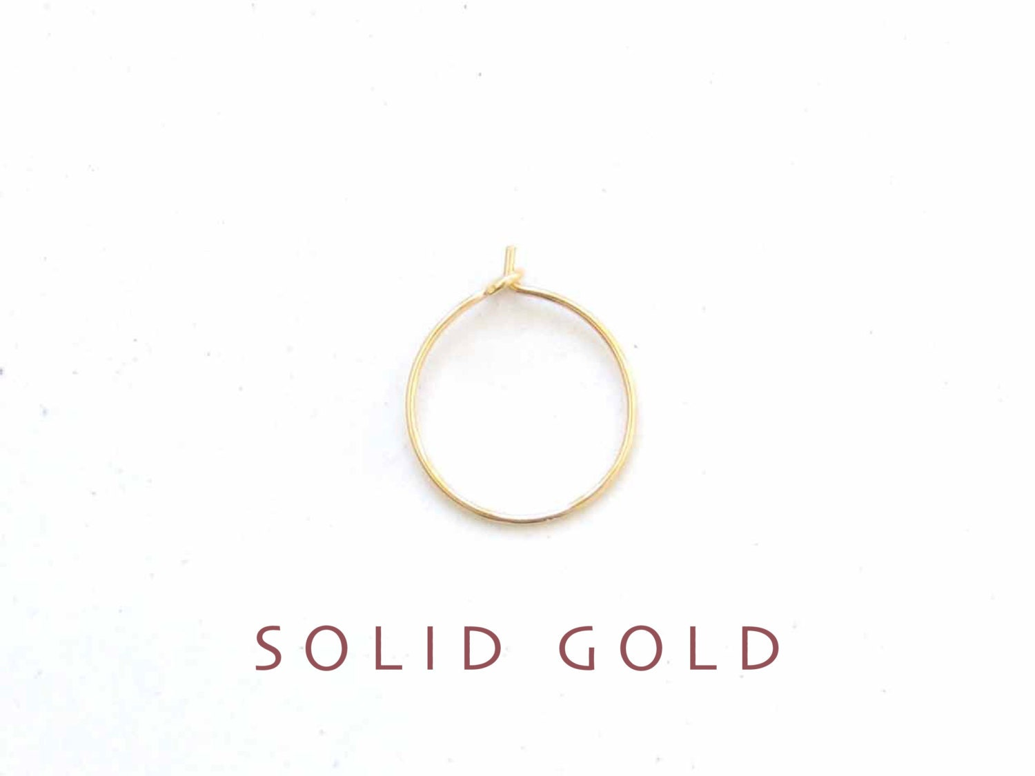 thin solid gold nose ring gold nose ring thin gold nose