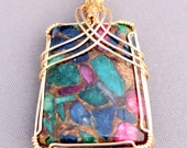 Wire-wrapped Mixed Jasper...