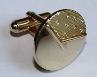 Vintage Gold Tone Cuff Links by Shields