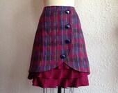 Veronica wool ruffle front skirt Sz 6