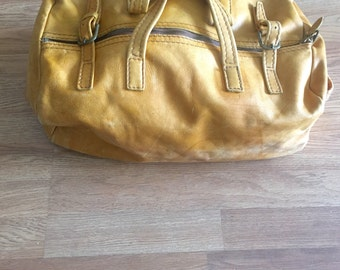 vintage leather weekender distressed hobo weekend bag travel