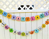 Graduation Banner-Graduation Banner Set-Congratulations Sign- Celebration Garland-Graduation Party-Celebration Banner-We Are So Proud Sign