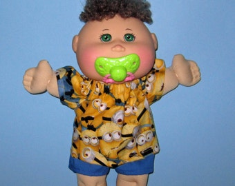 Cabbage Patch, Naptime Babyland, Doll Clothes, Minions,  12 13  inch Doll Clothes,   Boy or Girl Doll Clothes