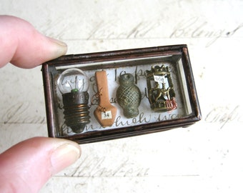 Pocket Museum - Glass Box Assemblage Curiosity Art Object
