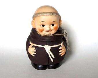 Goebel China Friar Tuck Bank with Key