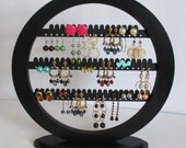 earring holder,  FREE SHIPPING!  ready to ship!  Jewelry rack, round  with BASE, earring organizer,earring tree