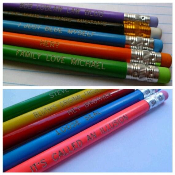 Arrested Development inspired pencil set grab bag, 5 pencils