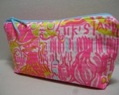 Lilly Pulitzer/Pencil Case/MakeUp Bag/Cosmetic Bag/Preppy/Sorority Gift/Bridesmaid Gift (Kinis in the Keys)
