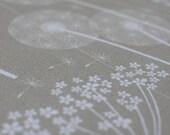 FABRIC SAMPLE / Floral Design Upholstery Fabric Material / Paper Meadow / Kraft / Hannah Nunn