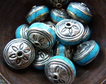 Price reduction** Sterling beads with turquoise inlay