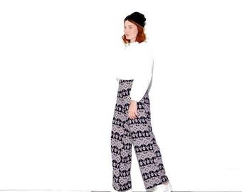 HURRY HALF OFF Vintage Palazzo Pants medium large / high waisted pants yoga pants hippie pants ethnic tribal fabric harem pants boho pants w
