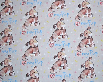 COUPON CODE SALE - Free Spirit Fabric, Paw Prints, Luv My Pup, Kathy Davis, 100% Cotton Quilt Fabric, Dog, Quilting Fabric