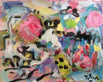Abstract Expressionist Painting, Modern art, Russ Potak