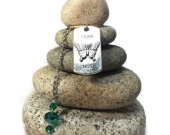 Fear Not Rock Cairn, Zen, Spiritual Small Gift, Wishing Stones, Relax, Believe, Hope, Balance, Enjoy, Desk Gift, Stacked Stones, Zen Holiday