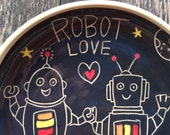 Robot Love Serving Bowl with Handles / Gifts for Geeks