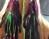 Long Feather Headband Native American Hippie Bohemian Coutry Western Tribal