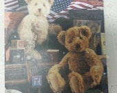 Vogue Craft 7534 Teddy Bear Pattern by Designer Linda Carr 18inch teddy bear pattern and 15inch teddy bear pattern
