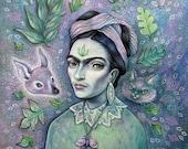 Magical Girl Frida - 8x8 print