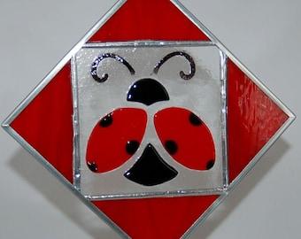 Ladybug Fused Glass Suncatcher