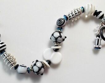 Black & White Whimsy Bracelet