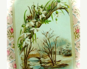 20PercentOff Antique 1800s Gorgeous Victorian Reward of Merit Trade Card N0 68 Student Name on back