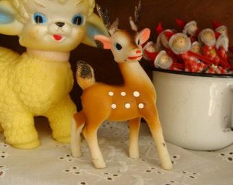 Vintage Kitsch 1950s Doe Sugared Reindeer with Adjustable Head