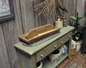 Dollhouse Miniature Candle Box Flatware Utensils Long Tray Holder