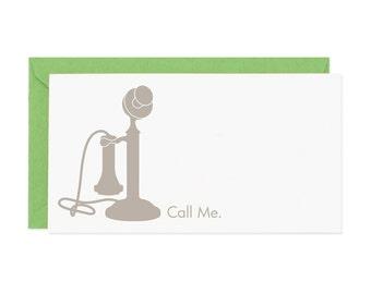 Call Me Mini Enclosure Card
