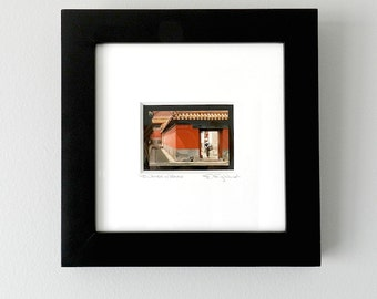 Framed Art, Red Gold Asian Decor, Framed Photography of China, Square Framed Print, Framed Asian Art, Framed Wall Art, Framed Wall Decor