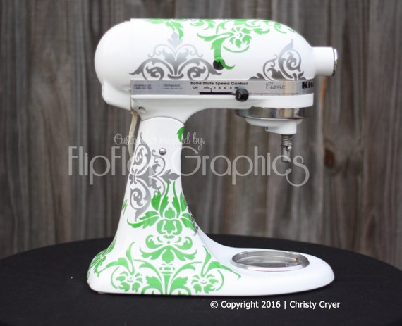 Damask Vinyl Graphic for your Kitchen Mixer