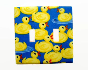 duck light switch cover yellow blue ducks switch plate duck bathroom decor boys