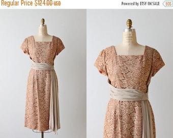 SALE 1960s Dress / Lace Dress / 60s Dress / Mocha Lace Wiggle Dress / Coffee