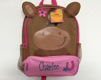 Personalized Stephen Joseph Sidekicks Horse Backpack