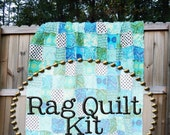 Rag Quilt Kit, multiple sizes available, Joie de Vivre fabrics