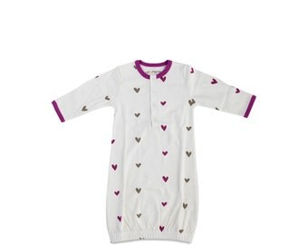 Organic Hearts Infant Gown