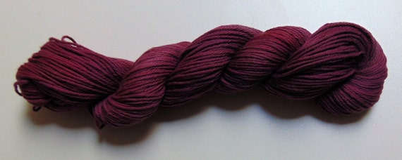 Blackberry- 100 Organic Cotton Yarn, Hand Dyed, Hand Painted