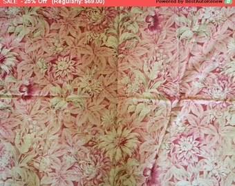 Surprise SALE - Beautiful Shabby Antique French Botanical Cotton Cretonne Fabric