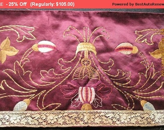 Surprise SALE - Antique Silk Embroidery 19thc French