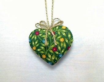 Green Heart Ornament | St Patrick's Day | Spring Decor | Party favor | Irish Decor | Tree Ornament | Handmade | Holidays | Heart Ornament #3